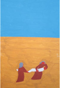 Title: Taking Jesus back to the tomb                                                                          - Artist: Susannah Nelson                                                                                      (2014 / Tennant Creek)