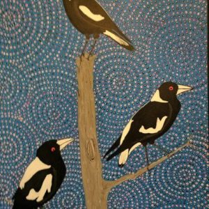 Title: The Magpies                                                                          - Artist: Michael Breen