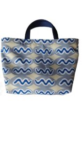 Title: Flash Tote                                                                          - Artist: Francoise Lane                                                                                      (2019 Flash Totes are created for flash people! Made using Eco Canvas, a 100% polyester with 45% recycled content. Printed with eco-safe  transfer sublimation inks that provide vibrant colour and washability. Wash separately in cool or warm water using a gentle machine cycle.)