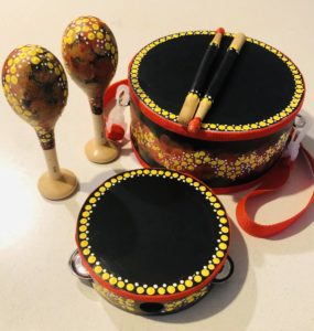 Title: NAIDOC Early Learning Jarjums Corroboree Packs                                                                   - Artist: Kylie Hill                                                                              (Corroboree / Coming together to celebrate NAIDOC through music and dance. 2020)